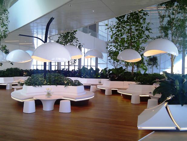 Het nieuwe werken vraagt om groen into green for Interieur bedrijf