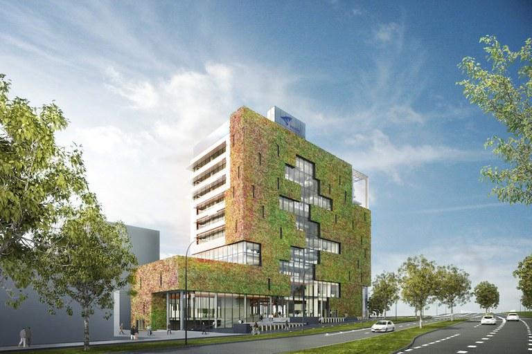 stadskantoor Eindhoven plant facade