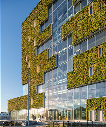 building with planted facade